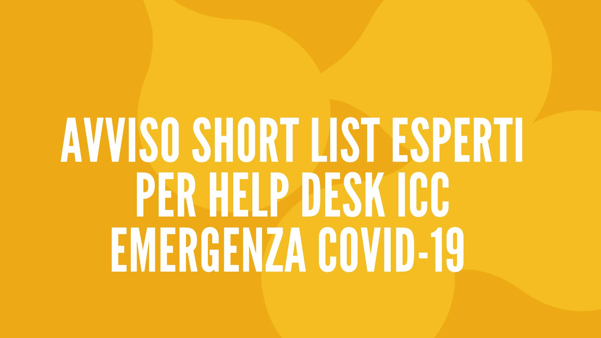 avviso-ShortList-Icc_conid19